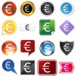 Multiple Buttons - Euro - Stock Vector