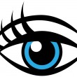 Human Female Eye - Stock Vector