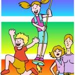 Family Fun — Stock Vector