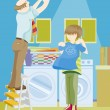 Family Chores - Stok Vektr
