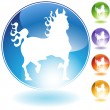 Fire Horse Crystal Icon — Image vectorielle