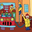 Vector de stock : Fire House