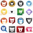Flower Pot Icon Set — Image vectorielle