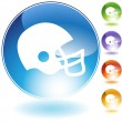 Football Helmet Crystal Icon — Stock Vector