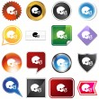 Football Helmet Variety Set — Stock Vector