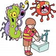 Royalty-Free Stock Imagen vectorial: Frightened Germs