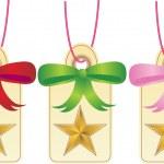Christmas Gift Tags - Star — Stock Vector