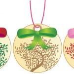 Holiday Ornaments - Tree — Stock Vector