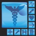 Medical Button Icon Set — Stock Vector #3988212
