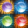 3D Globes - Background — Stock Vector
