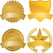 Gold Award Medals — Stock Vector