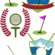 Golf Crests — Stock Vector