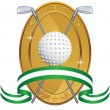 Golfing Icon — Stock Vector