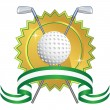 Golfing Icon — Stock Vector #3988288
