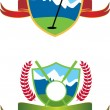 Golfing Icons — Stock Vector