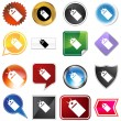 Hang Tag Variety Icon Set — Stock Vector