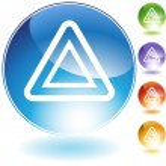 Hazard Crystal Icon — Stock Vector