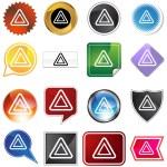Hazard Icon Set — Stock Vector #3988583