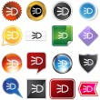 Постер, плакат: Headlight Icon Set
