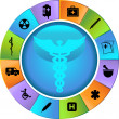 Healthcare Wheel — Stock Vector #3988606