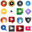 Royalty-Free Stock Vector Image: Hero Variety Set