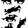 Horse Icon Set — Stock Vector