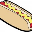 Hot Dog - Stock Vector
