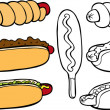 Hot Dogs - Stock Vector