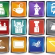 Stock Vector: Hotel Icons