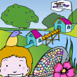 Kid Adventures: Symbols of Iowa - Stockvectorbeeld