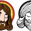 Stock Vector: Jesus