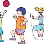 Детские игры и упражнения — Cтоковый вектор