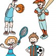 Stock Vector: Kids Sports