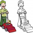 Vector de stock : Lawn Mower