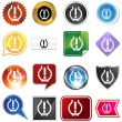 Royalty-Free Stock Vector Image: Low Tire Pressure Icon Set