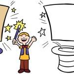 Child doing magic trick — Stock Vector