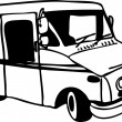 Vector de stock : Mail Truck