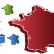 Stock Vector: 3D France Country Map