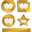 Comedy Masks - Stock Vector