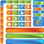Medical Icon Set - Arrow Button Series — Stock Vector