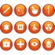 Medical Icon Set - Round — Stock Vector #3989423