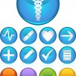 Medical Icons - Round — Stock Vector