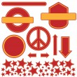Set of Red / Yellow Icons — 图库矢量图片 #3989482