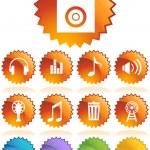 Multimedia Buttons — Stock Vector