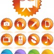 Multimedia Buttons - Stock Vector