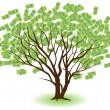 Stock Vector: Money Tree