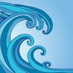 Tsunami Tidal Wave — Stock Vector