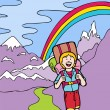 Постер, плакат: Kid Adventures: Hiking in the Mountains