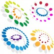 Royalty-Free Stock Vector Image: Morphing Dotted Circles