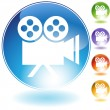 Movie Camera - Stock Vector